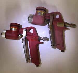 2 Central Pneumatic Texture Spray Guns Gravity Feed Air Hopper 1.5 Gallon Hopper