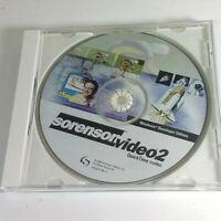 Sorenson Video 2 Quick Time Codec 2000 Windows Developer Edition REPLACEMENTDISC