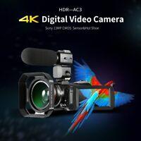 4K Camcorder ORDRO  AC3 Ultra HD Video Camera 1080P 60FPS WiFi Camera & IR IPS