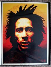 Obey Bob Marley print by Shepard Fairey, Dennis Morris signed and numbered giant