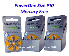 120 New PowerOne Hearing Aid Batteries Size P10, PR70, A10, size 10 Expire 2019