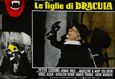 LE FIGLIE DI DRACULA TWINS OF EVIL FOTOBUSTA PETER CUSHING DENNIS PRICE BLACK