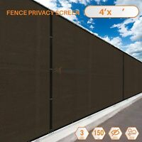 Customize 4'FT Privacy Screen Fence Brown Commercial Windscreen Shade Cover Mesh