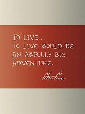 QUOTE TYPE TEXT GRAPHIC BARRIE PETER PAN ADVENTURE POSTER ART PRINT GIFT LF160