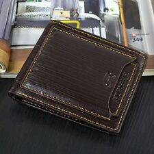 Fashion Men's PU Leather Wallet Pocket Bifold Purse Card Clutch ID Credit