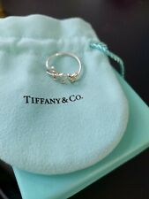 Tiffany & Co love word Silver Picasso Blue Love Ring Size 7.5 ring size P