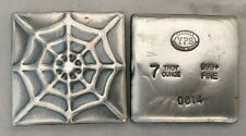 "7oz YPS ""Spiderweb"" 999+ silver bullion bar ""Yeager's Poured Silver"""
