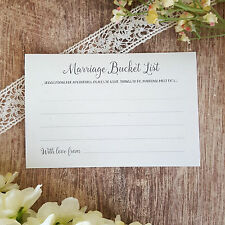 Wedding consigli CARDS ◦ PK di 10 ◦ GUEST BOOK alternativa ◦ MATRIMONIO SECCHIELLO elenco