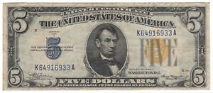 $5 1934-A North Africa Silver Certificate Fr#2307