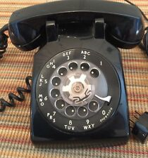 vintage black rotary dial telephone old retro phone Western Electric Bell System