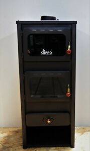 Wood Burning Stove with Oven Cooking Log Burner Fireplace 8 kw