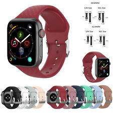 For Apple Watch iWatch Series 1 2 3 4 5 38 40 42 44mm Silicone Sport Strap Band