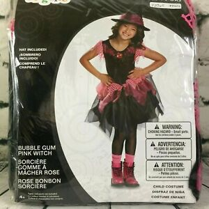 BUBBLE GUM PINK WITCH w/ Hat Size XS SM MED Child Halloween Costume Fancy Dress