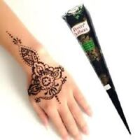 1 Natural Herbal Prem Dulhan Brown Henna Cone Temporary Tattoo Body Art Ink