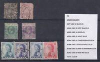 Fiji QV/QEII Collection of 8 J1570