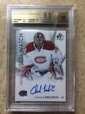 16-17 SPA SP Authentic Future Watch FW RC CHARLIE LINDGREN /999 Graded BGS 9.5