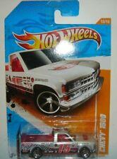 2011 Hot Wheels #78 Track Stars CHEVY 1500 White w/Chrome 5 Spoke Wheels