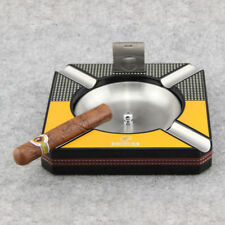COHIBA High Class Tetragonum Wooden Metal 4 Slots Cigar Ashtray  With Cutter