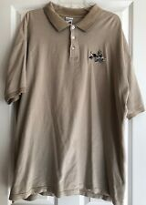 Mens Warner Brothers Wiley Coyote Golf Shirt Embroidered Short Sleeve Size XXL