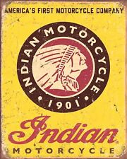 10 x 8 INDIAN AMERICAN MOTORCYCLE MOTORBIKE METAL PLAQUE SIGN OTHERS LISTED N360