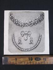 1868 GIOIELLI PRINCIPESSA MARGHERITA DONO DAME ROMANE ROMA ANTICA STAMPA D460