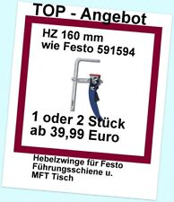 Fsz 2 Pièces Dispositif de Serrage à Levier 160mm pour Festool Modèles 491594