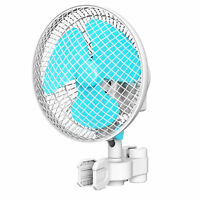 """VIVOSUN 6 Inch Clip On Oscillating Fan for 0.59 to 1"""" Grow Tent Pole w/ 2-Speed"""