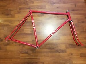 Cilo Steel Swiss Made Vintage Road Bike Frame Campagnolo Dropouts Reynolds