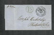 "Transatlantic Ship Cover Liverpool To Philadelphia 1855 ""Asia"""