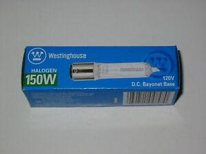 Lot of 6 Westinghouse 04847 Clear Halogen 150W T-4 Bayonet Base Light Bulbs