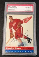 Detroit Red Wings Gordie Howe 1954 Topps #8 PSA 6 Ex-Mt