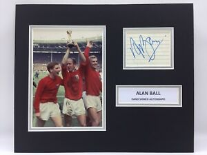 RARE Alan Ball England 1966 Signed Photo Display + COA AUTOGRAPH WORLD CUP 66