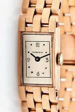 Antique RETRO 1940s Tiffany & Co Panther Link 14k Rose Gold Ladies Watch