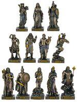 The 12 Olympian Greco Gods (12 Freddo Scultura Bronzo Miniature)