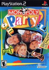 Monopoly Party PlayStation 2 PS2 Board Game COMPLETE Case Manual and Game Disc