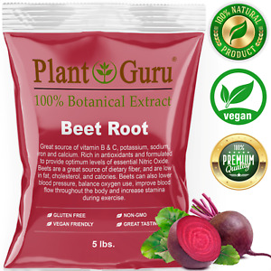 Red Beet Root Powder 5 lbs. Bulk Beta Vulgaris Nitric Oxide Extract Super Food
