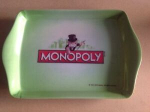 MONOPOLY BRAND SMALL HARD PLASTIC TRAY - 1935 / 2010 HASBRO Very Collectable