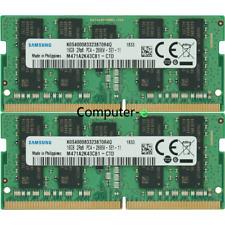 Samsung 32GB KIT 2X16GB PC4-21300 DDR4-2666Mhz ECC Unbuffered SO-DIMM Memory @4