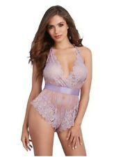 New Dreamgirl Lavender Halter Neck Lace Size Medium UK10-12