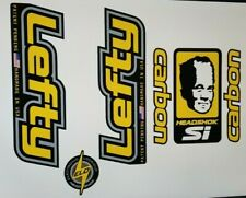 Sticker Decal Set for Old Style Cannondale Lefty ELO Carbon- Yellow and Chrome
