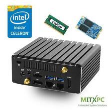 Jetway JBC313U591W Intel Celeron N3160 Dual LAN Fanless NUC /4GB,120GB mSATA SSD
