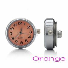 Locket Fit Chunk Jewelry DIY Bead Round Clock Watch Snap Button For Bracelet
