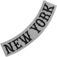 "VEGASBEE® NEW YORK REFLECTIVE EMBROIDERED PATCH BIKER JACKET LOW ROCKER 12"""