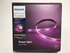 """Philips Hue White and Color Ambiance Lightstrip Plus Starter Kit 20W 80"""" LED"""
