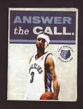 Allen Iverson--2009-10 Memphis Grizzlies Schedule--Budweiser