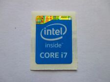 Intel Inside Core i7 Sticker Blau Blue 1x Stück pcs Aufkleber Label NEU logo new
