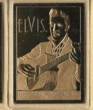 Elvis Presley 22 Kt Sculpted Karat Gold Card Danbury Mint Want Need Love U 1956
