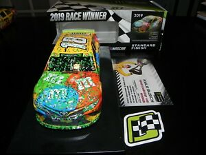 KYLE BUSCH 2019 #18 M&MS HOMESTEAD WIN RACED VERSION 1/24 DIECAST