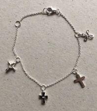 Sterling Silver Holy Cross Bracelet Baptism Christening Birthday Gift Boxed