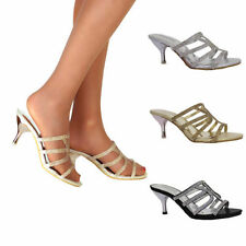 Kitten Patternless Synthetic Heels for Women